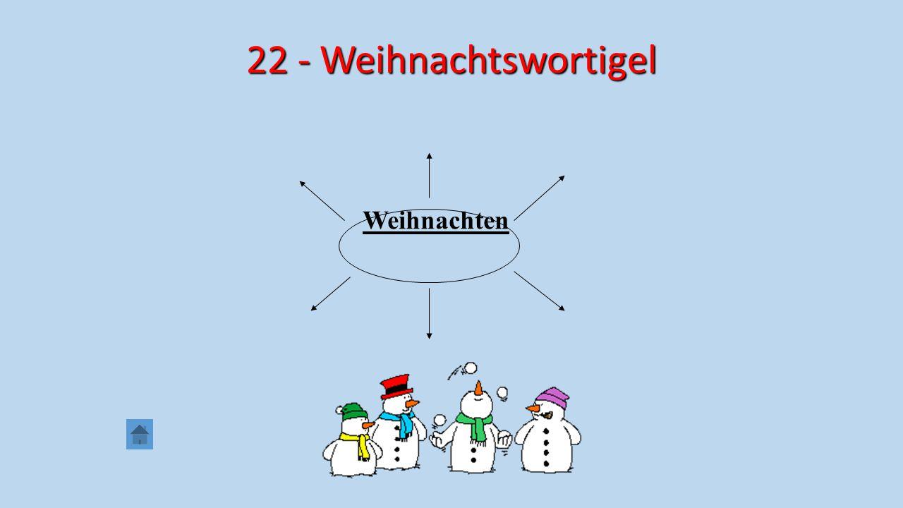 22 - Weihnachtswortigel Weihnachten