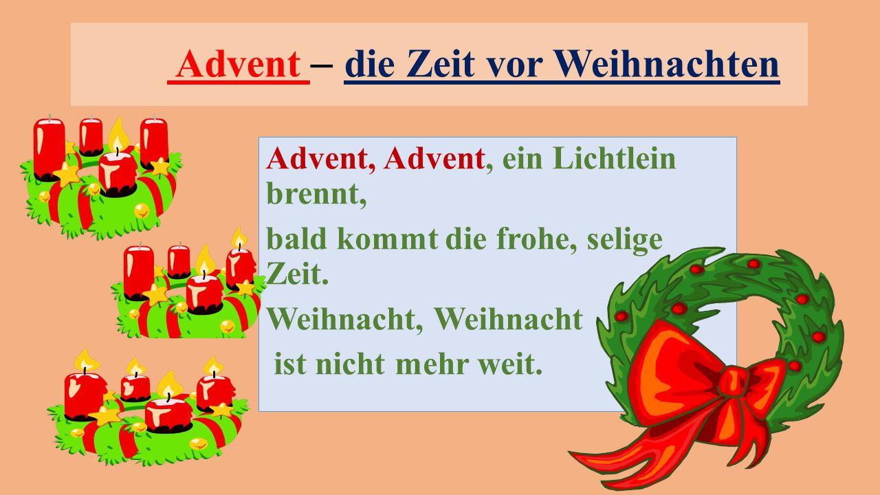 Advent – die Zeit vor Weihnachten