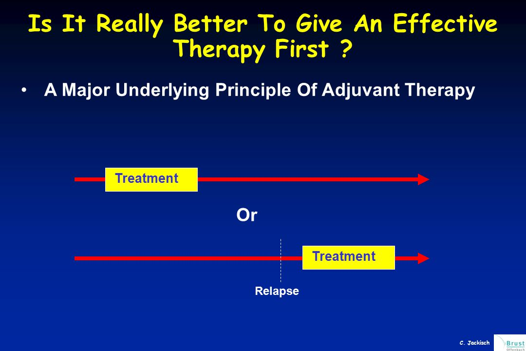 Is It Really Better To Give An Effective Therapy First