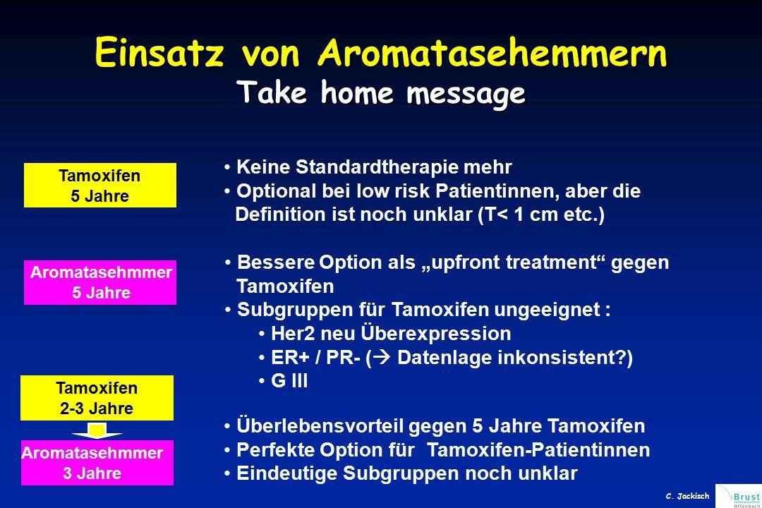 Einsatz von Aromatasehemmern Take home message