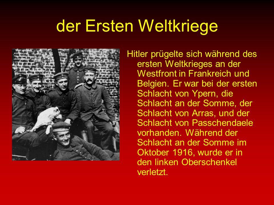 der Ersten Weltkriege