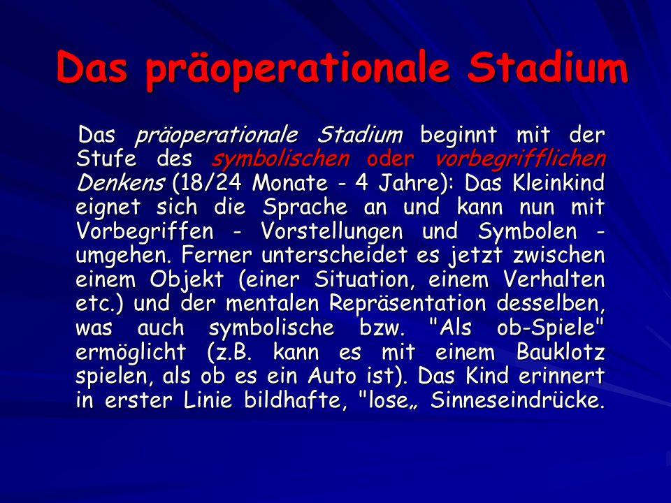 Das präoperationale Stadium