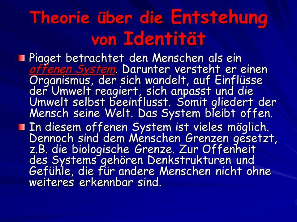 Theorie über die Entstehung von Identität