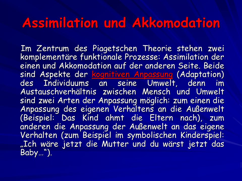 Assimilation und Akkomodation