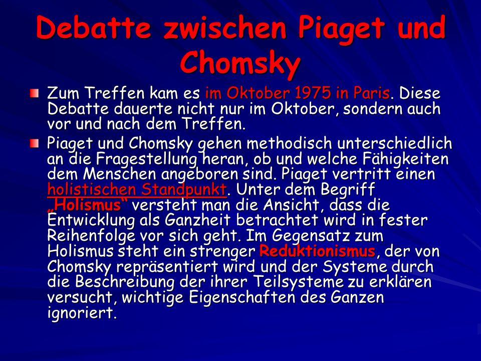 Debatte zwischen Piaget und Chomsky