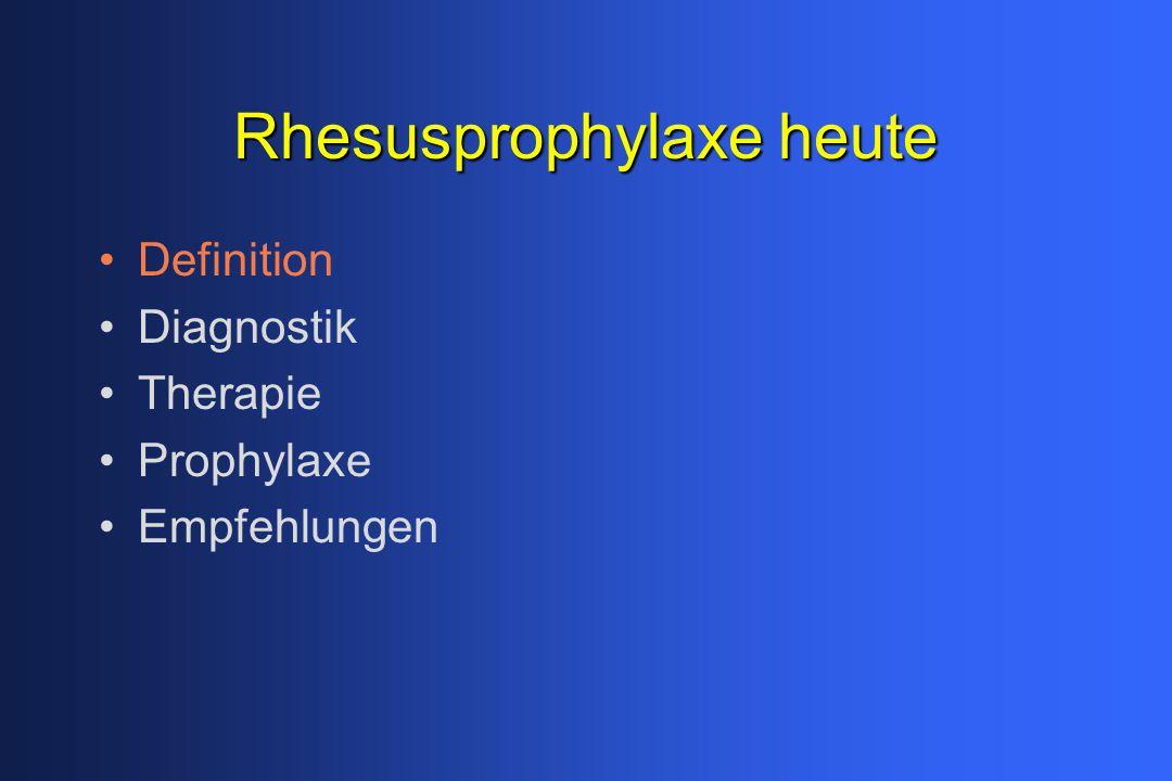 Rhesusprophylaxe heute