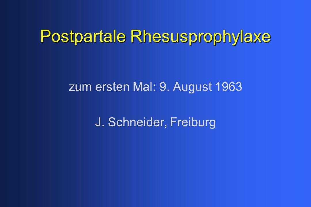 Postpartale Rhesusprophylaxe