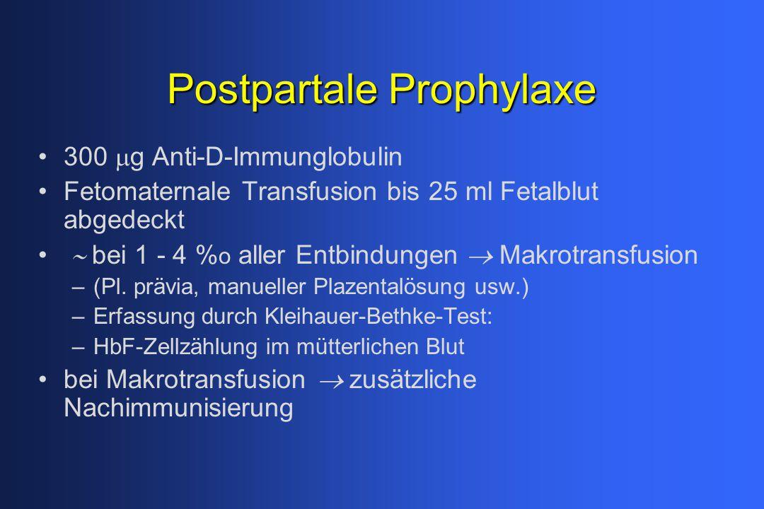 Postpartale Prophylaxe