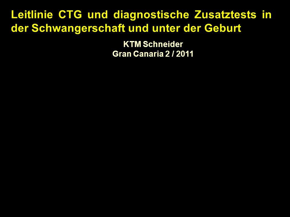 Leitlinie CTG und diagnostische Zusatztests in der Schwangerschaft und unter der Geburt