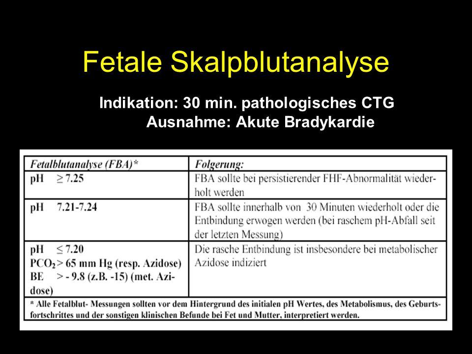 Fetale Skalpblutanalyse