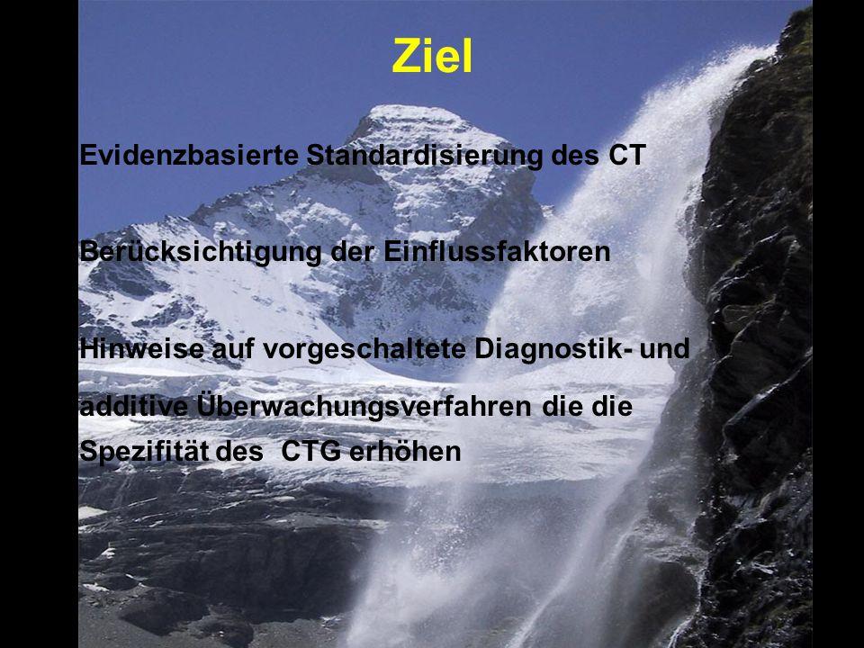 Ziel Evidenzbasierte Standardisierung des CT