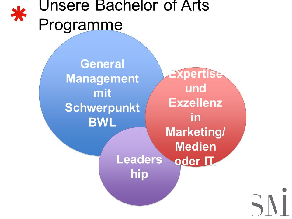 Unsere Bachelor of Arts Programme