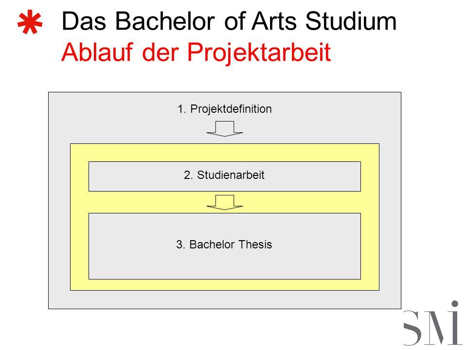 Das Bachelor of Arts Studium Ablauf der Projektarbeit