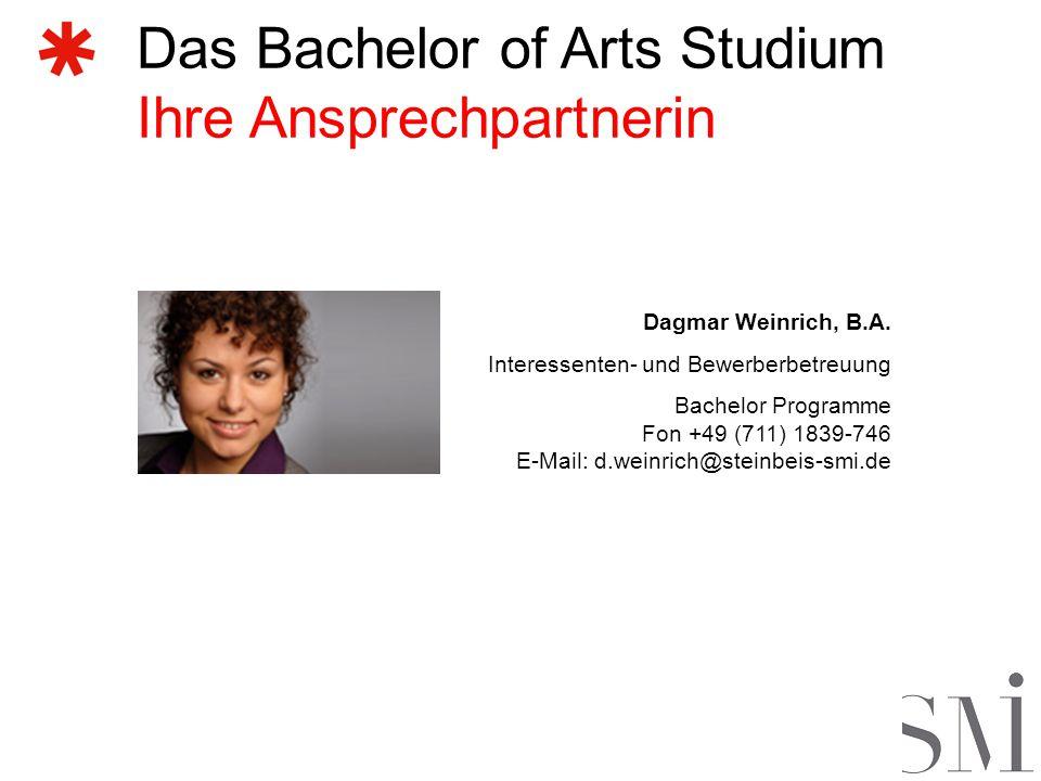 Das Bachelor of Arts Studium Ihre Ansprechpartnerin