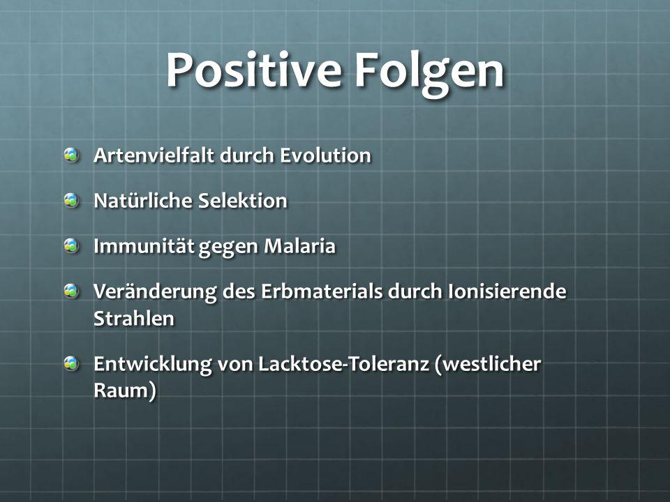 Positive Folgen Artenvielfalt durch Evolution Natürliche Selektion