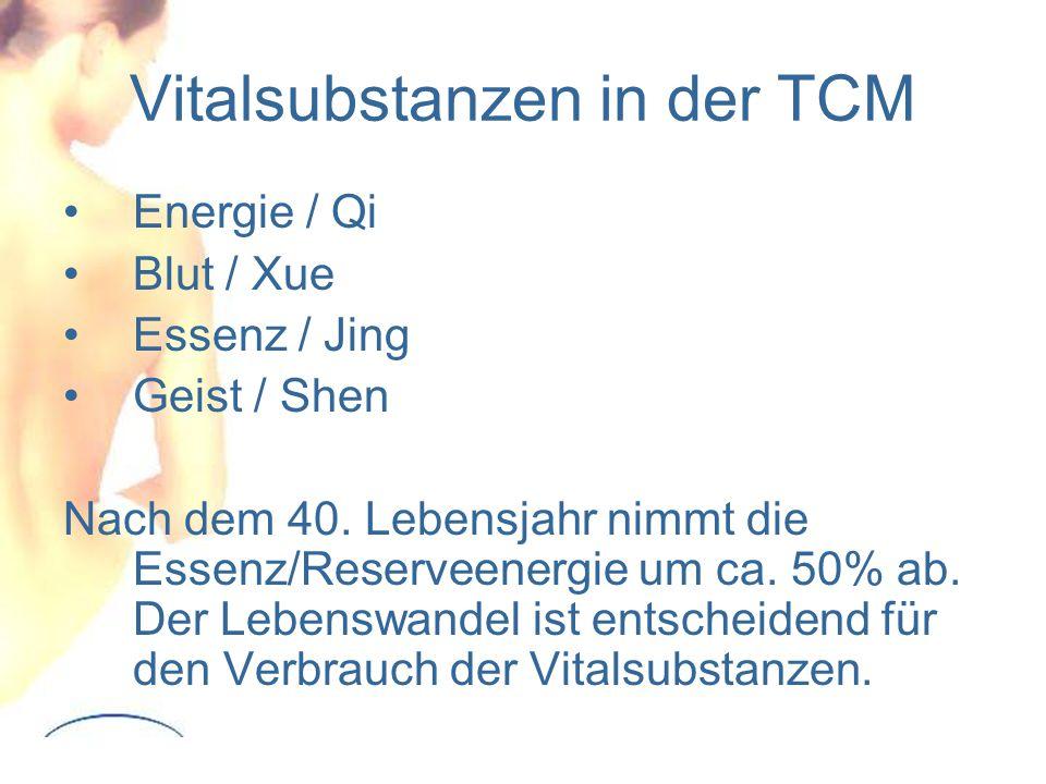 Vitalsubstanzen in der TCM