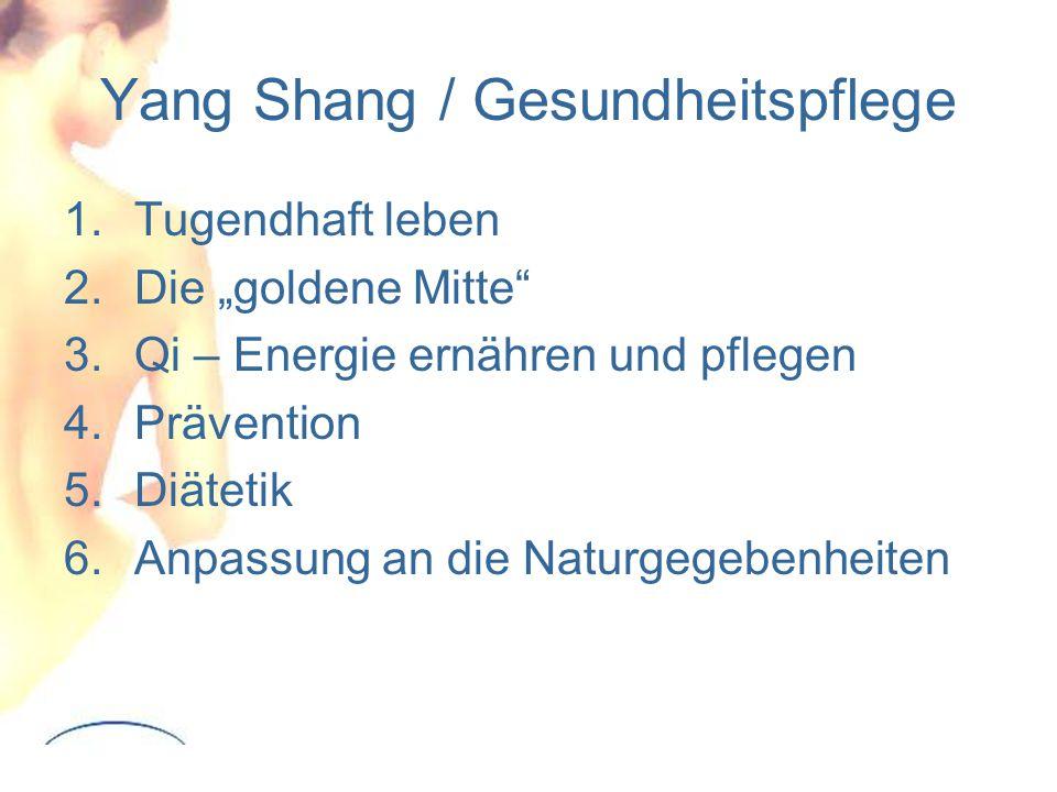 Yang Shang / Gesundheitspflege