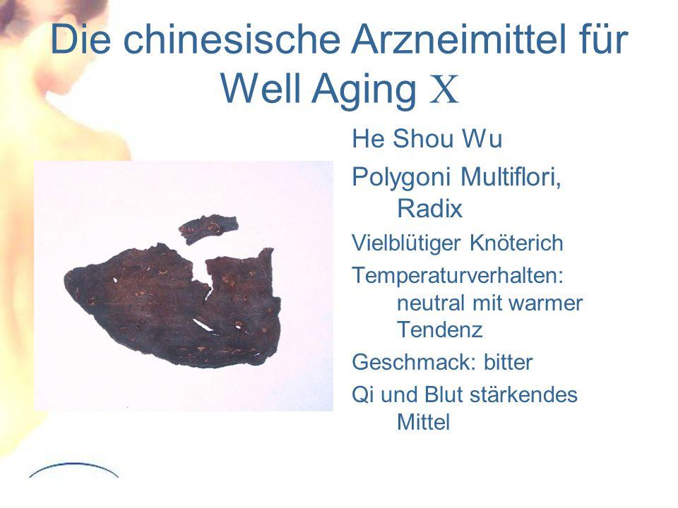 Die chinesische Arzneimittel für Well Aging X