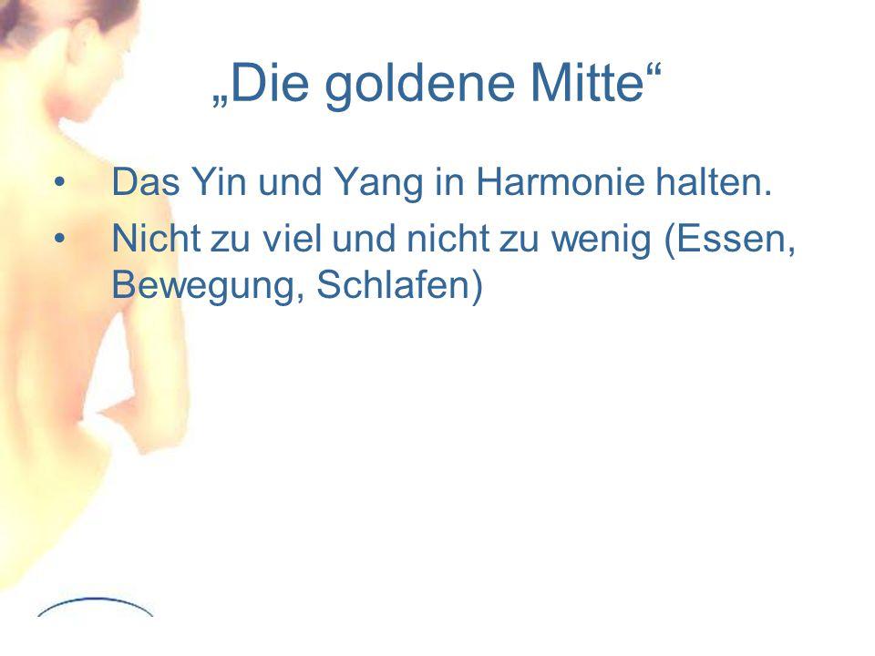 """""""Die goldene Mitte Das Yin und Yang in Harmonie halten."""