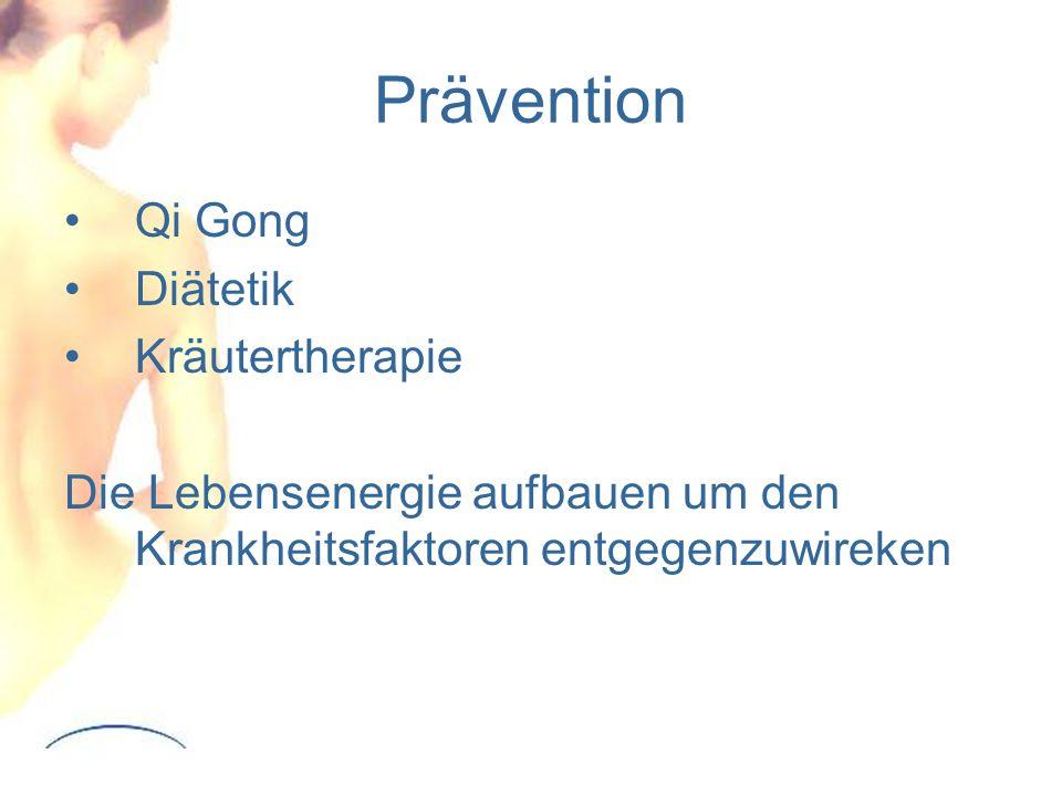 Prävention Qi Gong Diätetik Kräutertherapie