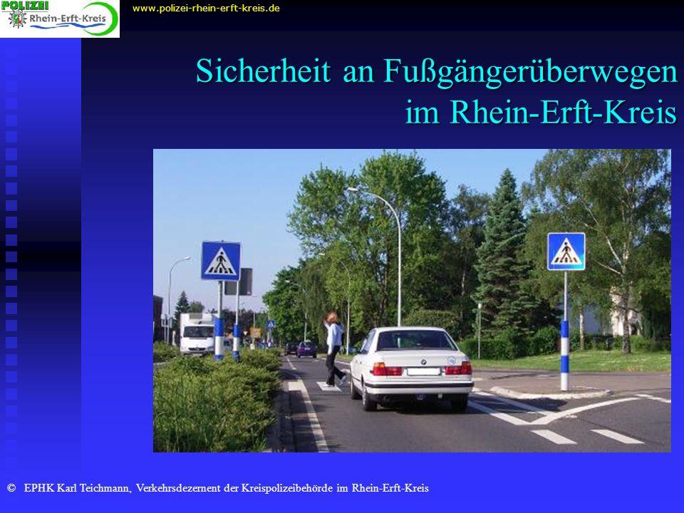 Sicherheit an Fußgängerüberwegen im Rhein-Erft-Kreis