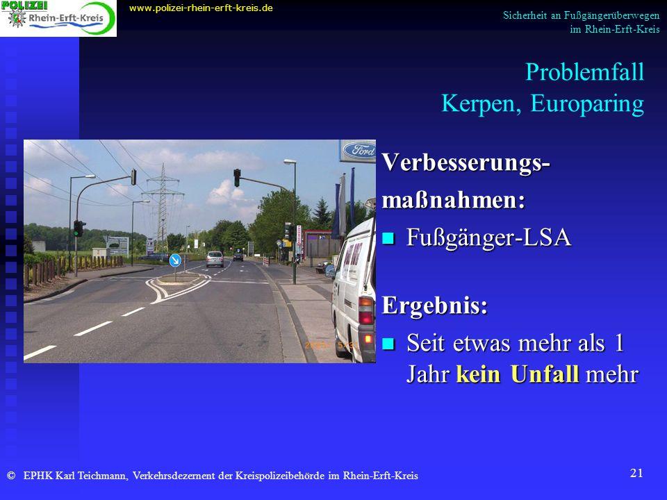 Problemfall Kerpen, Europaring