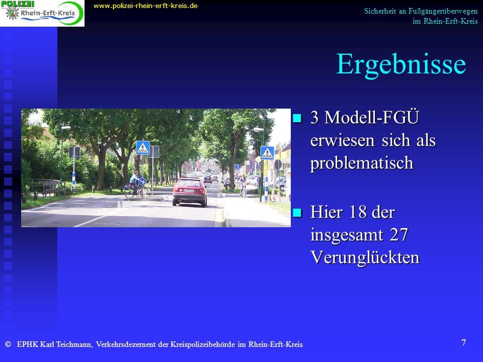 Ergebnisse 3 Modell-FGÜ erwiesen sich als problematisch