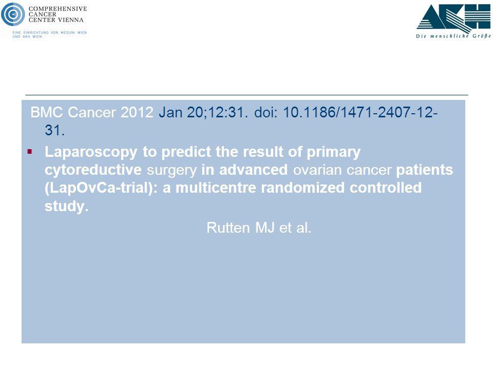 BMC Cancer 2012 Jan 20;12:31. doi: 10.1186/1471-2407-12-31.