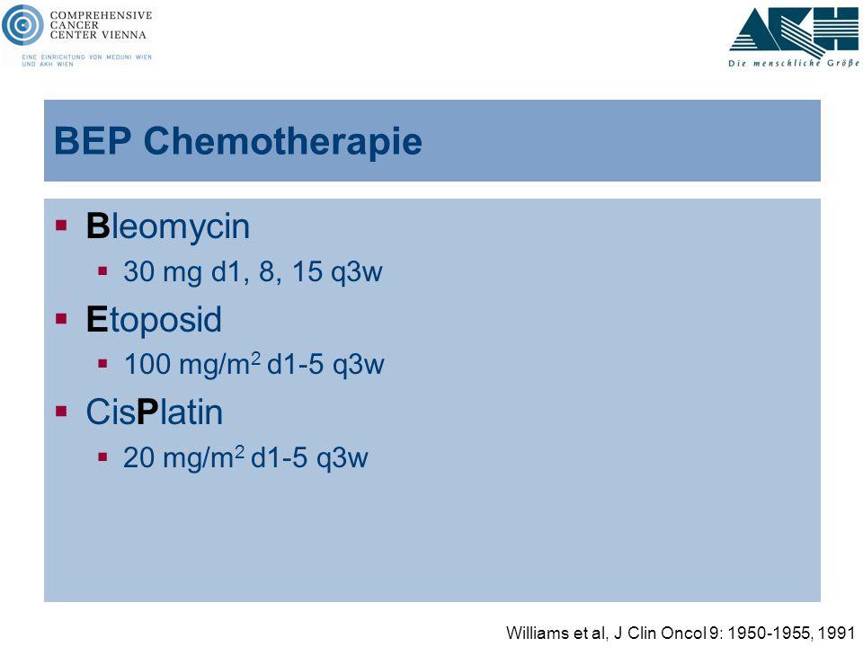 BEP Chemotherapie Bleomycin Etoposid CisPlatin 30 mg d1, 8, 15 q3w