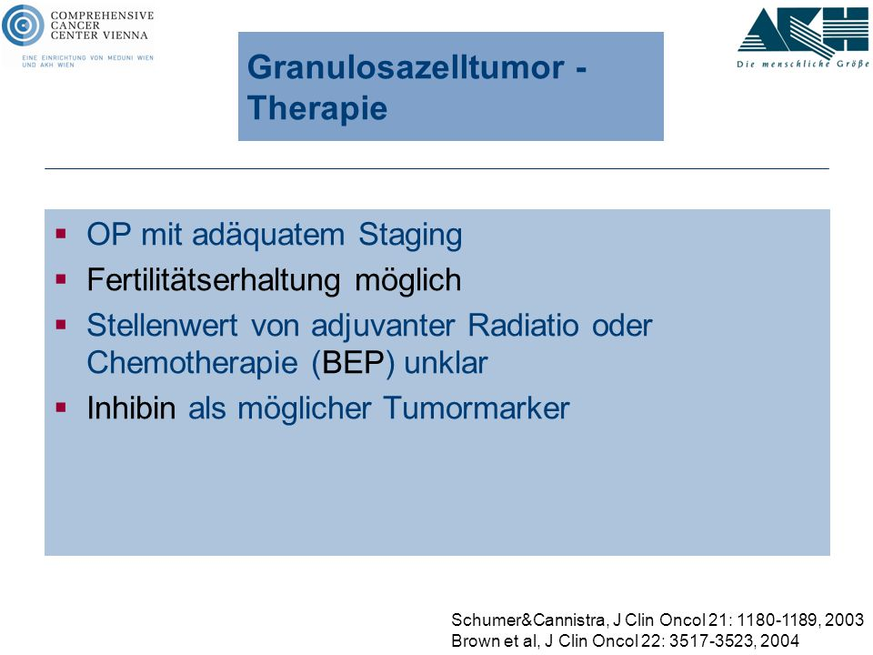 Granulosazelltumor - Therapie