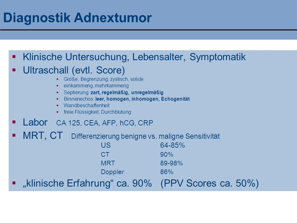 Diagnostik Adnextumor