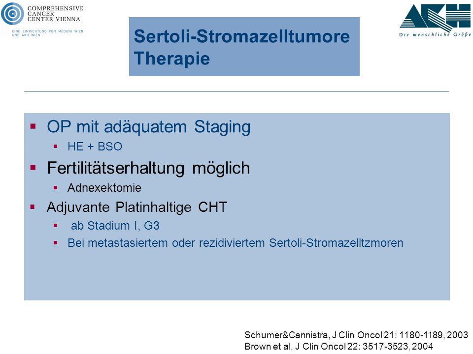 Sertoli-Stromazelltumore Therapie