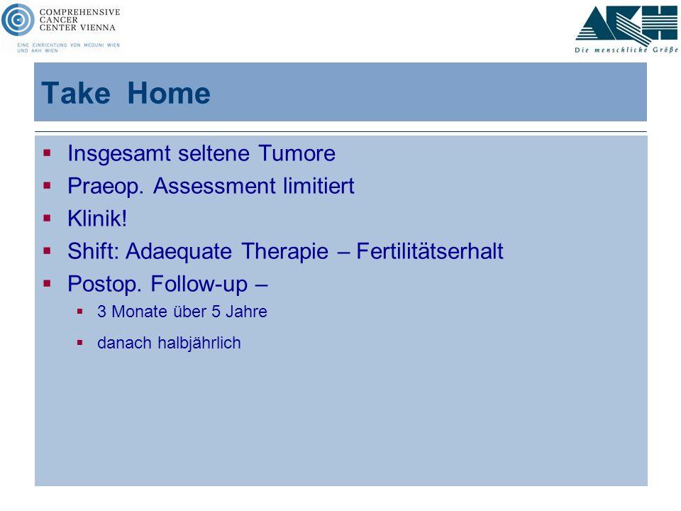 Take Home Insgesamt seltene Tumore Praeop. Assessment limitiert