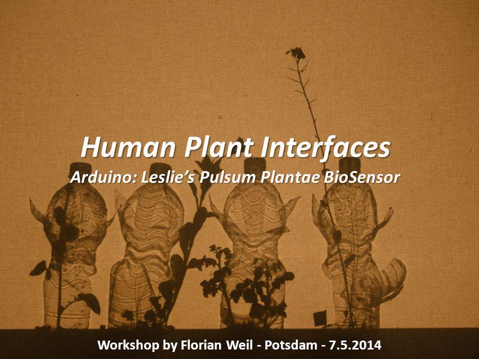 Human Plant Interfaces Arduino: Leslie's Pulsum Plantae BioSensor