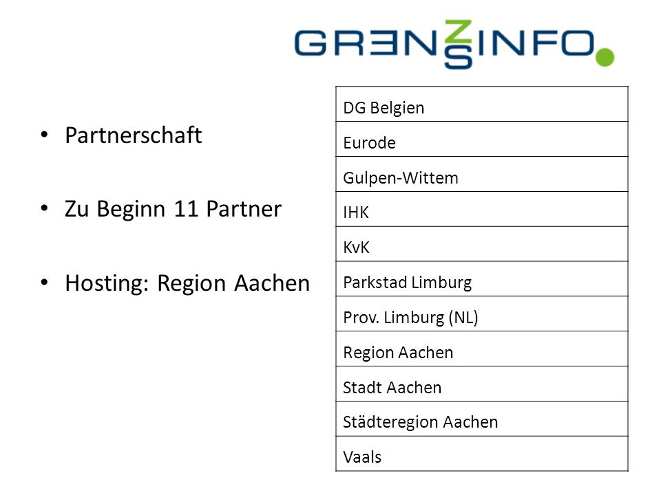 Hosting: Region Aachen