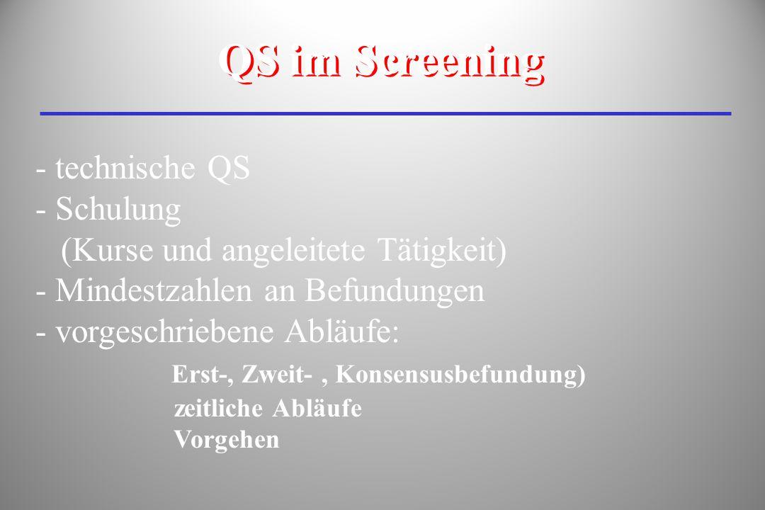 QS im Screening technische QS Schulung