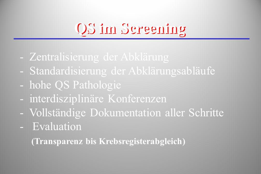 QS im Screening Zentralisierung der Abklärung