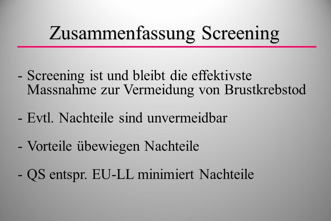 Zusammenfassung Screening