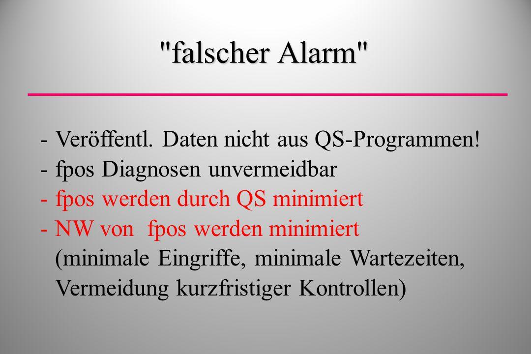 falscher Alarm Veröffentl. Daten nicht aus QS-Programmen!