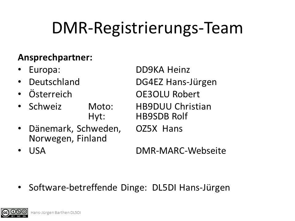 DMR-Registrierungs-Team