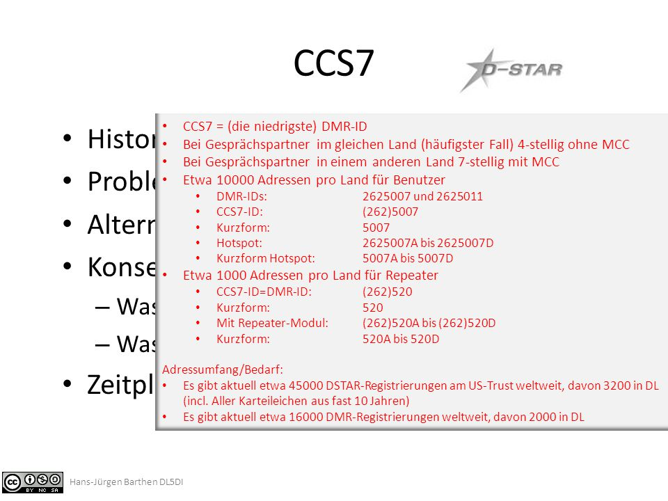 CCS7 Historie CCS Problem Alternativen Konsequenzen
