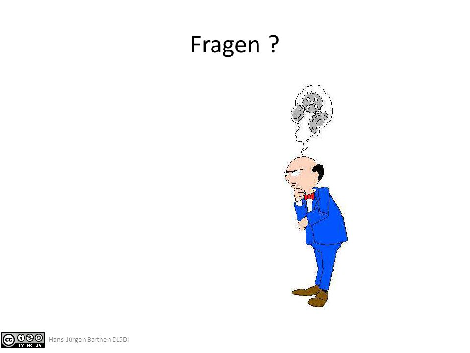 Fragen Hans-Jürgen Barthen DL5DI
