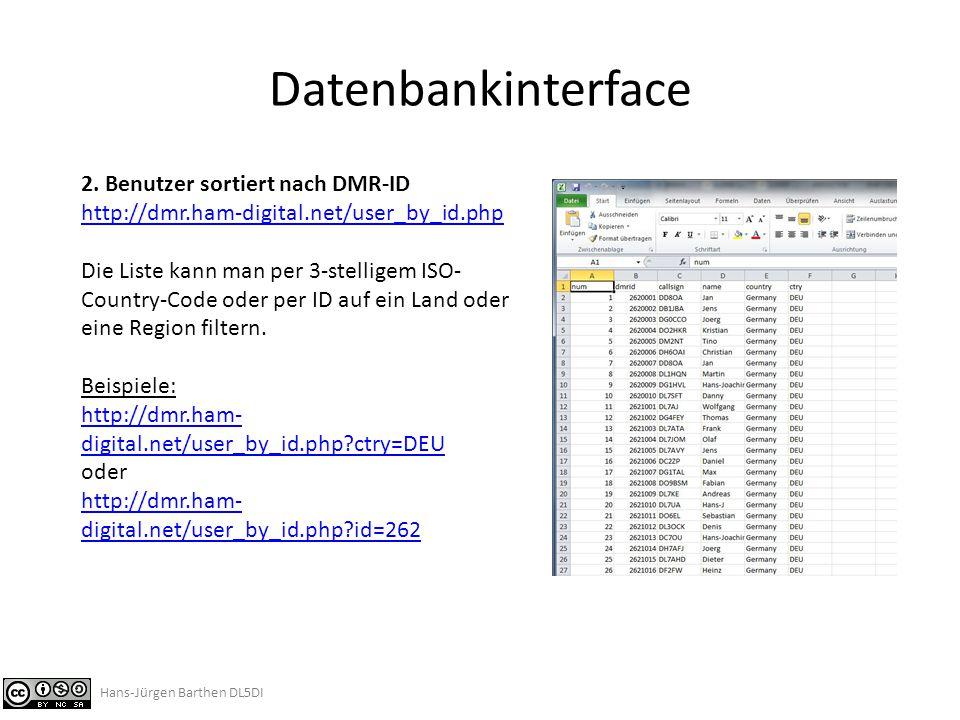 Datenbankinterface