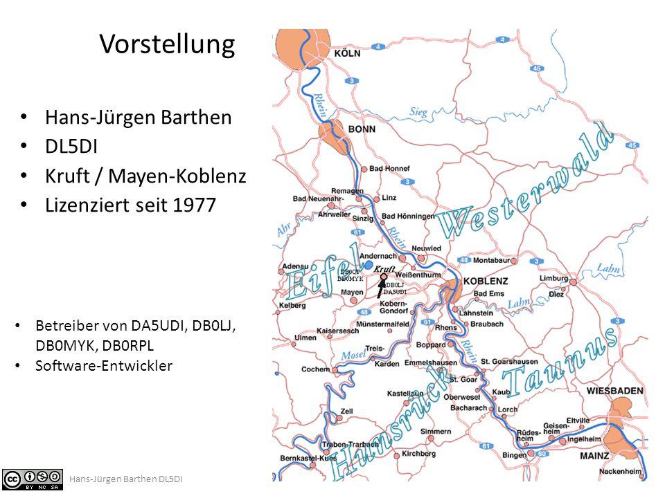 Vorstellung Hans-Jürgen Barthen DL5DI Kruft / Mayen-Koblenz