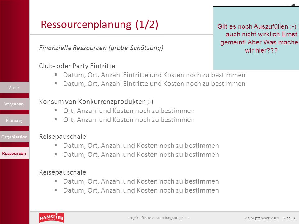Ressourcenplanung (1/2)