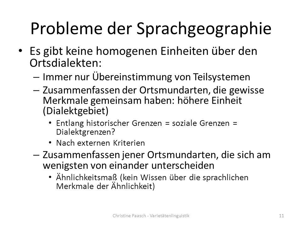 Probleme der Sprachgeographie