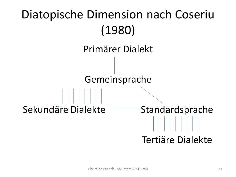 Diatopische Dimension nach Coseriu (1980)