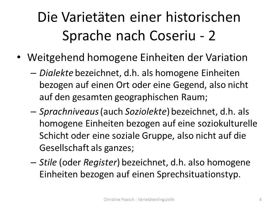 Die Varietäten einer historischen Sprache nach Coseriu - 2