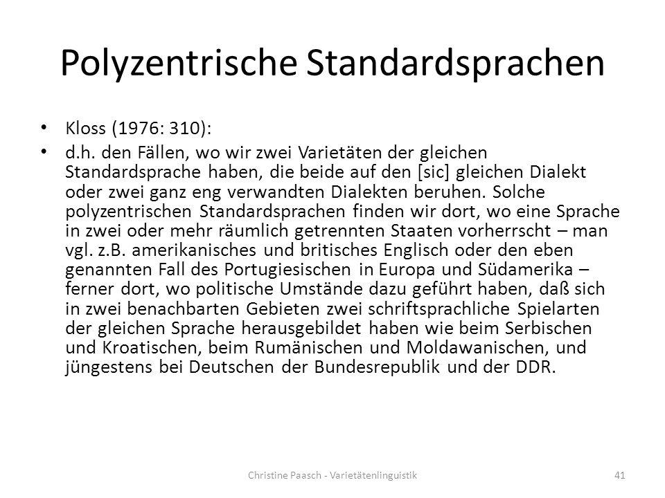 Polyzentrische Standardsprachen