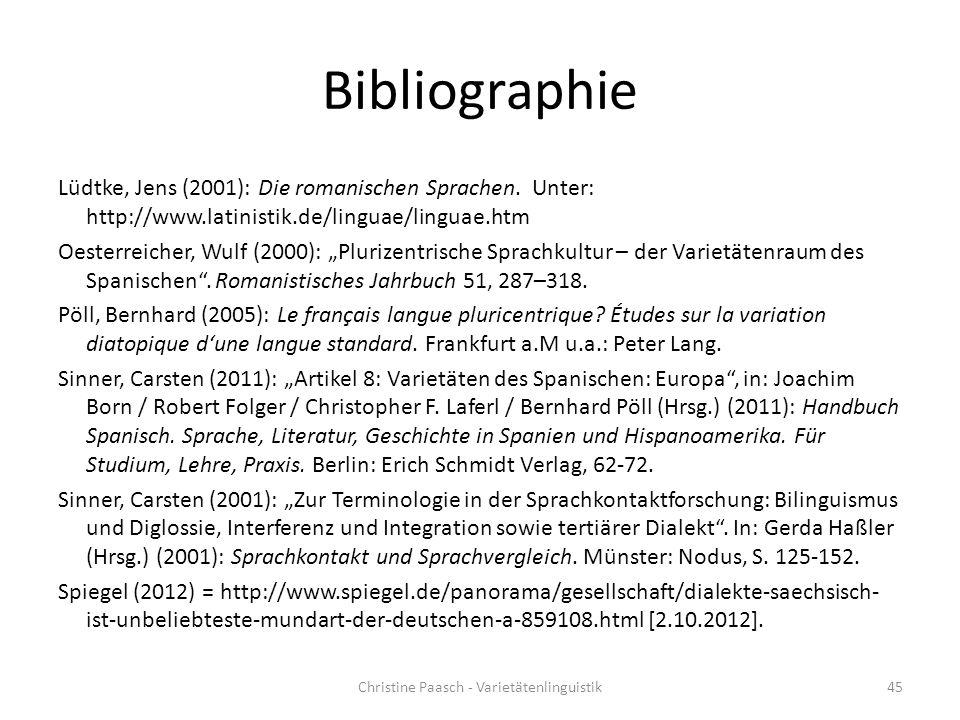 Christine Paasch - Varietätenlinguistik